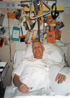 Co LeDahu in his hospitalbed
