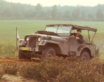 Co LeDahu as a 20-jear old Commando in his Jeep