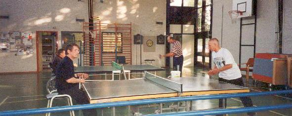 Plying table-tennis with my
